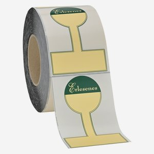 Etikette GOURMET,82x125mm,chamois+Rahmen+Erlesenes