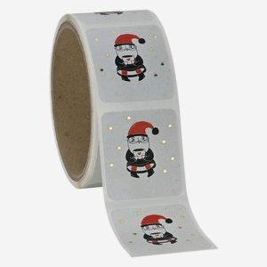 Etikette Weihnachtsmann, 39x43mm