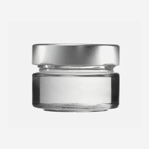 FACTUM Schraubglas 75ml, Weißglas, Mdg.: TO58De