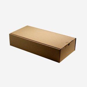 Geschenkkarton natur braun 38x18x8,5cm