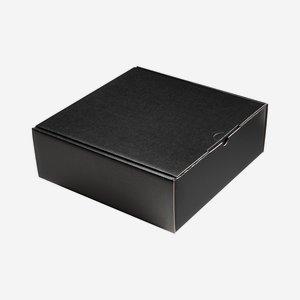 Geschenkkarton schwarz 28,3x28x10cm