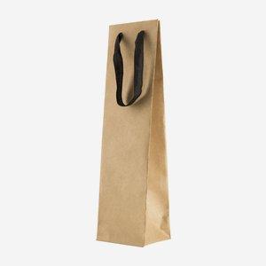 Geschenktragetasche groß, mit Band, Braun