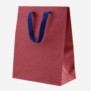 Geschenktragetasche mit Band, Weinrot