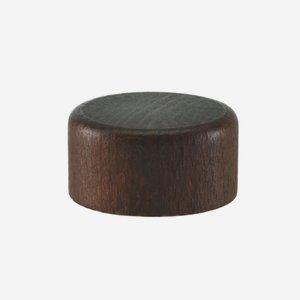 Holz-Alu-Schraubverschluss GPI 22, braun gebeizt