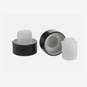 Alu-Kunststoff-Verschluss GPI 28, schwarz, Kugel