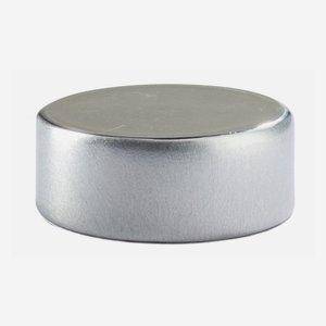 Alu-Kunststoff-Verschluss GPI 28 flach, silber