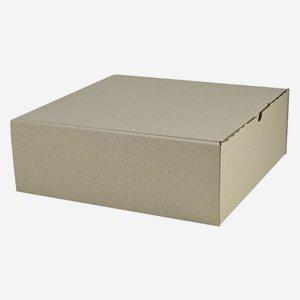 Geschenkkarton aus Graspapier 28,3x28x10cm