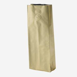 Vakuum-Kaffeebeutel 500g, gold, mit Ventil