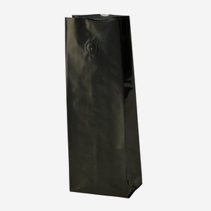 Vakuum-Kaffeebeutel 500g, schwarz, mit Ventil