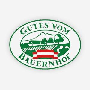 """Tansparentaufkleber 700x450, """"Gutes vom Bauernhof"""""""