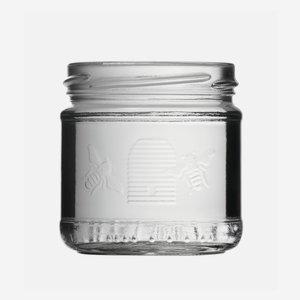Honigglas Imkerbund 210ml, Weißglas, Mdg.: TO70