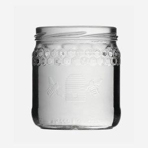 Honigglas Imkerbund 410ml, Weißglas, Mdg.: TO82