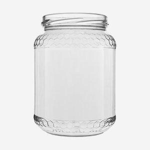 Honigglas Euro 770ml, Weißglas, Mdg.: TO82