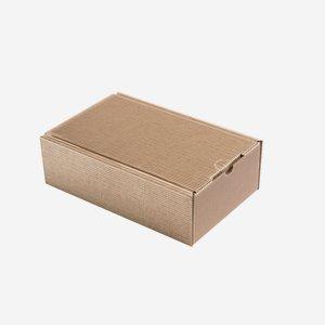 Geschenkkarton Außenwelle, braun, H26 x B16 x T8