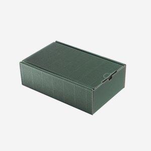 Geschenkkarton Außenwelle, grün, H26 x B16 x T8
