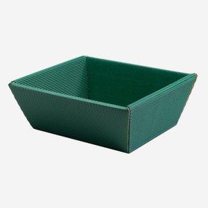 Geschenkschale Außenwelle, grün, mittel