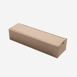 Geschenkkarton Außenwelle,braun,H37,5xB8,3xT8,5