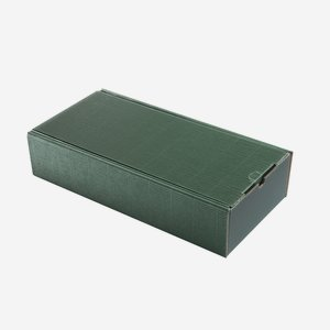 Geschenkkarton Außenwelle, grün, H38 x B18 x T8,5
