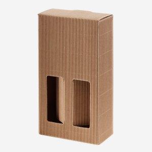 Karton Außenwelle - 2 Flaschen,  250ml, braun