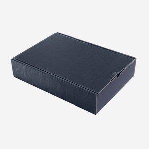 Geschenkkarton Außenwelle, blau, H38xB26,5xT8,5
