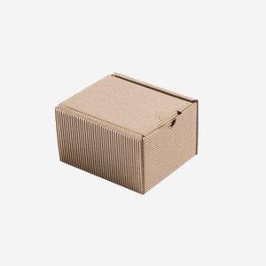 Geschenkkarton Außenwelle, braun, H12,8 x B11 x T8
