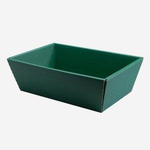 Geschenkschale Außenwelle, grün, groß