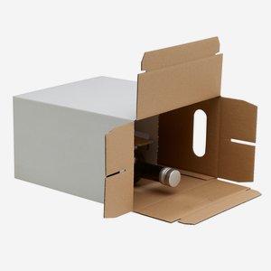 Verpackungskarton für 6 x 0,75l Bordeaux 292mm