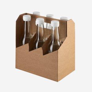 Flaschenträger Karton für 6 x Lon-330