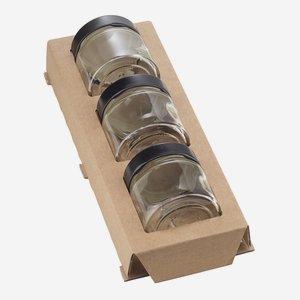 Kartoneinlage für 3 x Fac-125, für Kartonserie K50