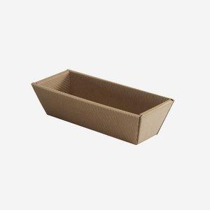 Geschenkkarton, braun, lang, L23,5 x B6 x H7,5