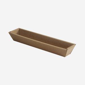 Geschenkkarton, braun, lang, L32 x B3,5 x H5