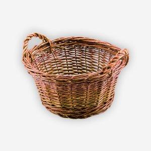 Weidenkorb, geflochten, rund, Ø ca. 40, H ca. 20cm