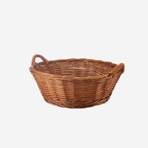 Weidenkorb, geflochten, rund,  Ø ca. 55, H ca.19cm