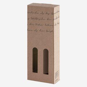 Geschenkkarton Lyrik, 2 x 0,1l Schnapsflasche
