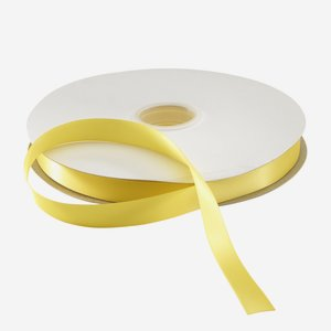 Satinband gelb 25mm, Heissfolien prägefähig