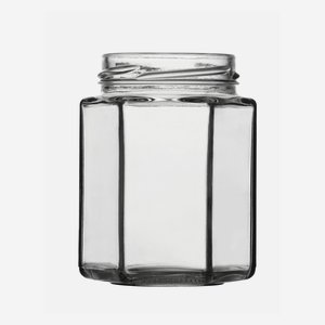 Sechskantglas 195ml, Weißglas, Mdg.: TO58