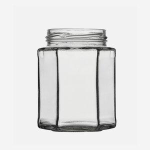 Sechskantglas 278ml, Weißglas, Mdg.: TO63