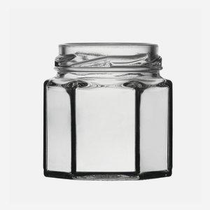 Sechskantglas 47ml, Weißglas, Mdg.: TO43