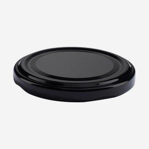 TWIST-OFF DECKEL PVC-frei, ø66mm, schwarz