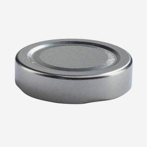 TWIST-OFF DECKEL PVC-frei, ø58mm, DE, silber, heiß
