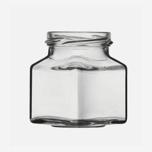 Vierkantglas 140ml, Weißglas, Mdg.: TO53