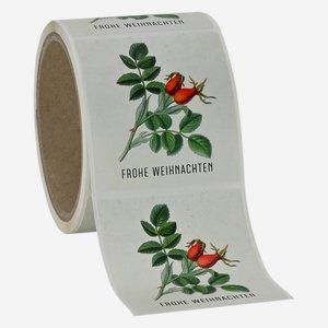 """Etikette Weihnachten, Motiv """"Hagebutte"""", 65x70mm"""