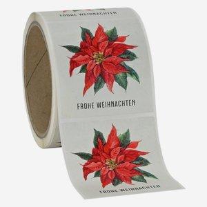 """Etikette Weihnachten, """"Weihnachtsstern"""", 65x70mm"""