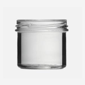 Schraubglas 125ml, Weißglas, Mdg.: TO66