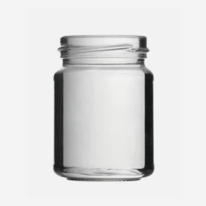 Schraubglas 143ml, Weißglas, Mdg.: TO53