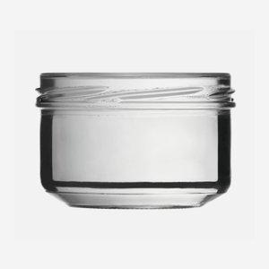 Schraubglas 186ml, Weißglas, Mdg.: TO82