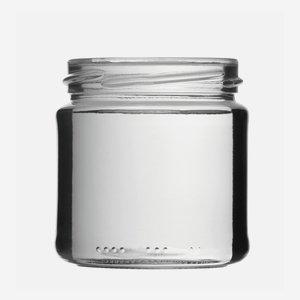 Schraubglas 210ml, Weißglas, Mdg.: TO66