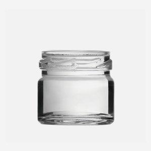 Schraubglas 30ml, Weißglas, Mdg.: TO43