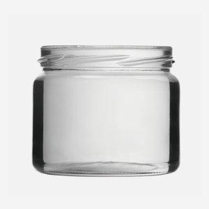 Schraubglas 330ml, Weißglas, Mdg.: TO82