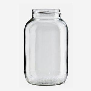 Schraubglas 3400ml, Weißglas, Mdg.: TO100